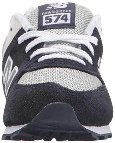 New Balance - Unisex-Baby Rugby 574 Infant Classic Shoes Navy With Grey & White