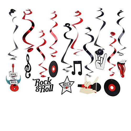 SUNBEAUTY Rock Party Dekoration Rock 'n' Roll Hängedekoration Disco