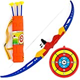 #9: Planet Of Toys Archery Bow & Arrow Set with Target Board For Kids
