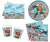 Disney Planes Party Geschirr Pack für 8Gäste Inklusive Becher, Teller, Tischdecke und Servietten. 37Party Artikel.
