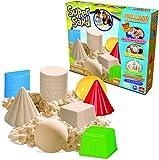 Goliath 83216  Super-Sand-Set Classic  magischer Super Sand für Sandburgen in Deinem  Kinderzimmer  kreative Sandbauwerke  bunter Spielspaß mit geometrischen Förmchen  ab 4 Jahren