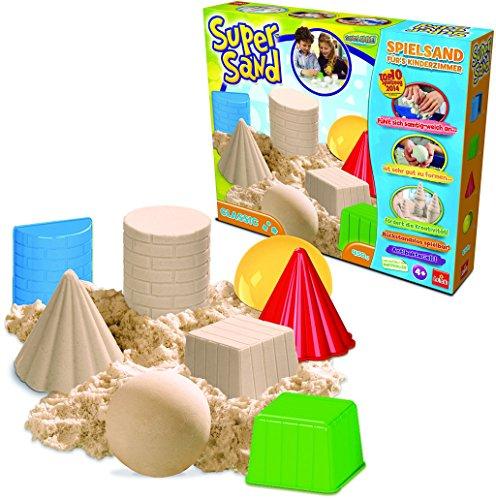 Goliath 83216 | Super-Sand-Set Classic | magischer Super Sand für Sandburgen in Deinem  Kinderzimmer | kreative Sandbauwerke | bunter Spielspaß mit geometrischen Förmchen | ab 4 Jahren (Sand Mädchen)