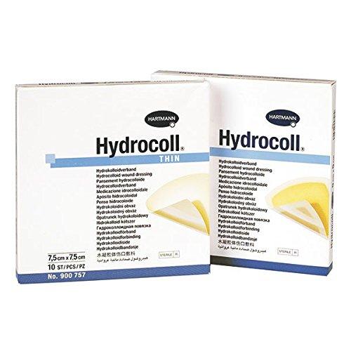 Topische Wundversorgung (Hartmann 9007421 Topische antimikrobielle Substanzen, Hydrocoll, 7,5 cm x 7,5 cm (10-er pack))
