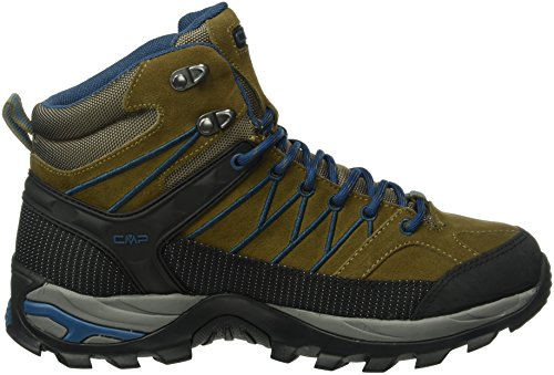 CMP Herren Rigel Mid WP Trekking-& Wanderstiefel, Grau Braun (wood P891)