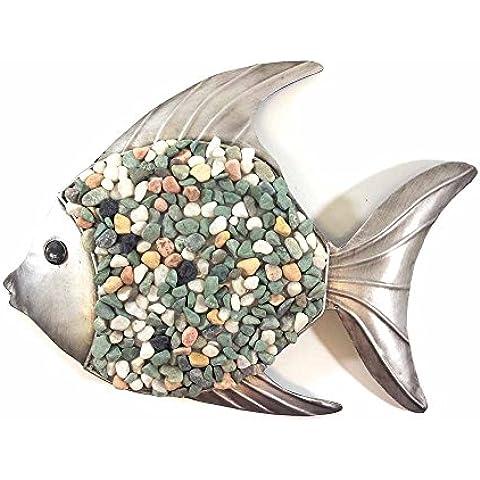 Parete di metallo di arte - immagine della parete o la scultura - Pesce ghiaia subacquea