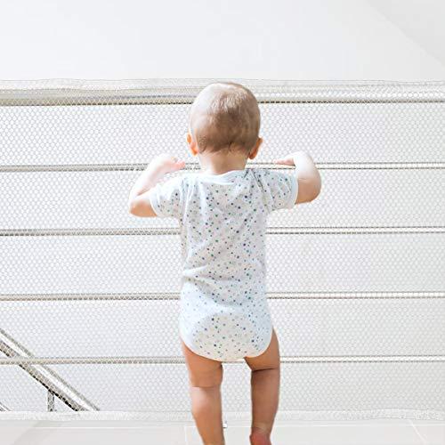 Sicherheitsnetz langlebiger Balkon und Treppe Geländer Zaun Mesh Schutz Net Safety Net für Kinder Haustiere 3M White -