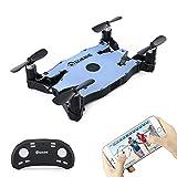 Mini Drone con Telecamera, EACHINE E57 Drone Pieghevole con Videocamera HD 720P WIFI FPV APP Mobile Controllo Selfie Drone