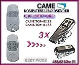 CAME TOP432EE - Lot de 3 télécommandes à 4 canaux - Compatible avec émetteur 433,92 MHz