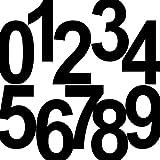 10 Stück 18cm schwarz Ziffer Ziffern Zahl Zahlen Nummer Hausnummer Aufkleber die cut Tattoo Deko Folie
