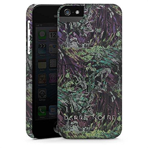 Apple iPhone X Silikon Hülle Case Schutzhülle BARRE NOIRE Blumen dschungel Premium Case StandUp