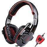 HuntGold USB prise 7.?1 surround casque stéréo écouteur avec w/ Mic pour PC LOL/Dota/CS