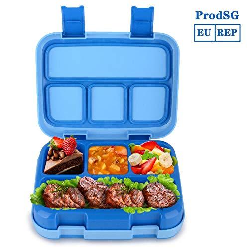 Jelife Bento Box Kids Brotdose Lunchbox Kinder für Schule Picknick Ausflug mit 4 Unterteilungen auslaufsicher Bento-box