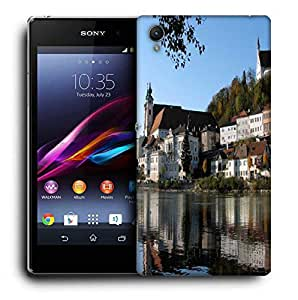 Snoogg Buildings Near The Lake Side Printed Protective Phone Back Case Cover For Sony Xperia Z4