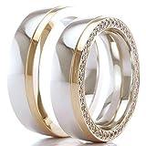 Eheringe 585/- Weißgold Rotgold B-48-05217-18 - Design Ring
