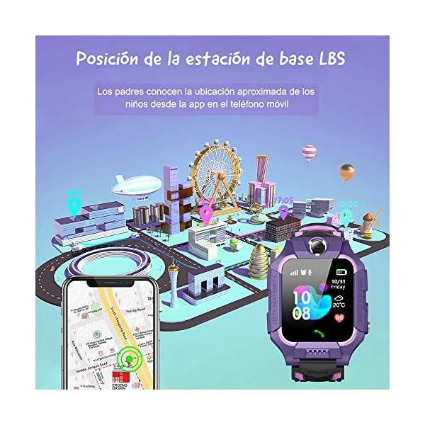 NAIXUES 2020 Smartwatch Niños, Reloj Inteligente para Niños Impermeable 67 con Linterna, SOS, LBS, Comunicación… 6