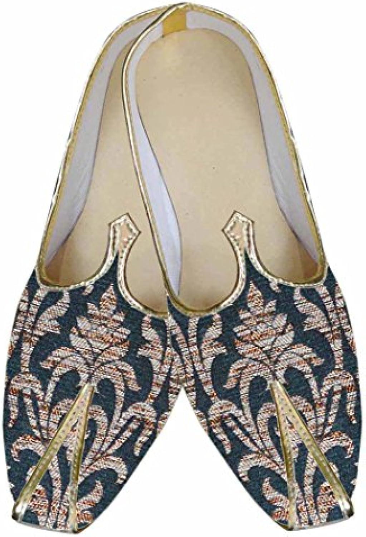 INMONARCH Hombres Negro Zapatos Atractivos de Boda MJ0047