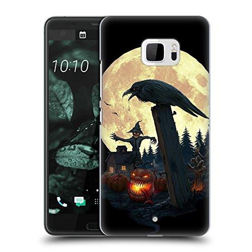 Head Case Designs Offizielle Christos Karapanos Halloween Thema Horror 2 Harte Rueckseiten Huelle kompatibel mit HTC U Ultra/Ocean Note