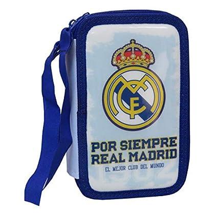 Plumier tres compartimentos relleno Real Madrid club de futbol