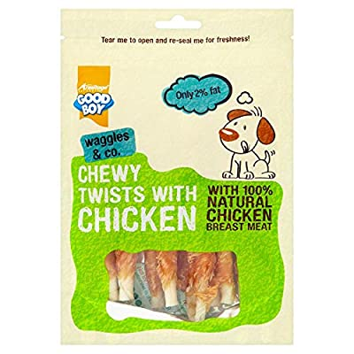 Good Boy Chewy Twisters with Real Chicken 90 g (Pack of 5) by Good Boy
