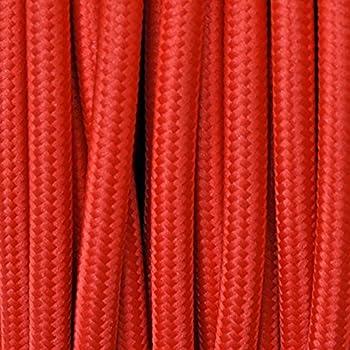 abat jour lampade .Matassa da 50mt 3x0,75 Colore Nero Cavo elettrico tondo rivestito in tessuto colorato per lampadari
