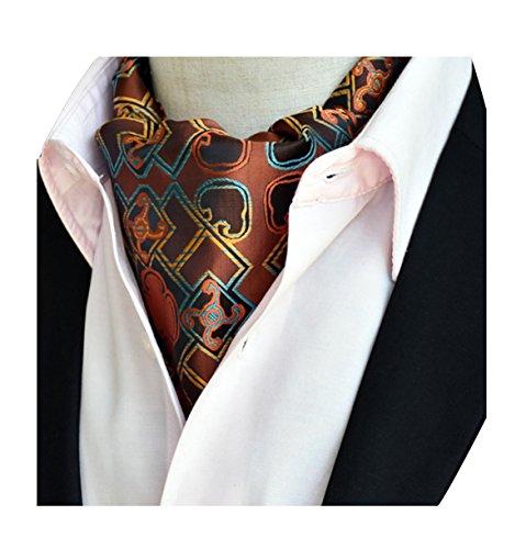 Herren Jacquard Ascot Elegent Necktie Ascotkrawatte Paisley