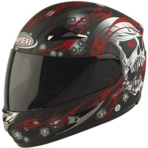 Viper, casco da moto con teschio, rs-44