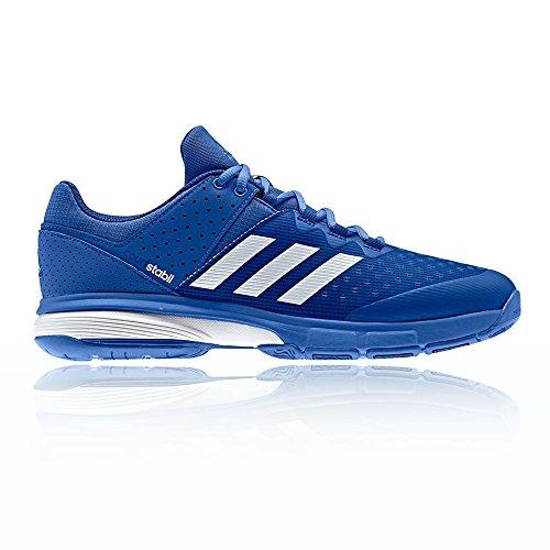 adidas Herren Court Stabil Handballschuhe Blau (Blau/Ftwbla/Tinmis)