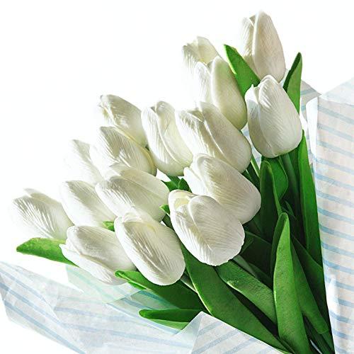 Veryhome Künstliche Blumen Gefälschte Blume Tulpe Latex Material Real Touch für Hochzeitszimmer Home Hotel Party Dekoration und DIY Decor