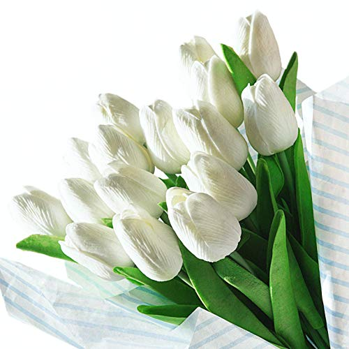 Veryhome Artificial Tulips Flores látex