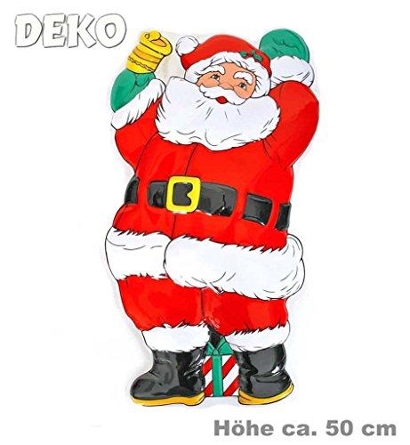 Wandbild, ca. 50 cm, Weihnachtsmann, Santa, Wanddekoration, Weihnachten, (Bilder Das Kobold Kostüm)