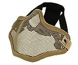 DCCN Maschera di Protezione Tattica a metà Viso a Rete in Metallo per utilizzo Militare o Sportivo (Softair, Paintball, ECC.)