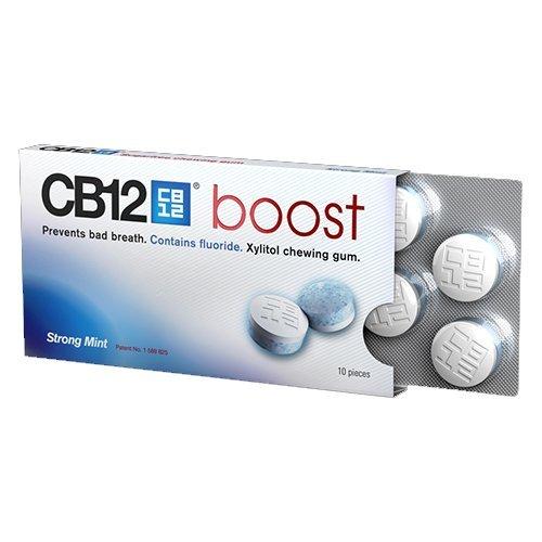 CB12 Boost Chewing-gum sans sucre au goût de menthe forte