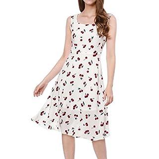 Allegra K Damen Trägerhemd Kleid Gr. L (42), weiß