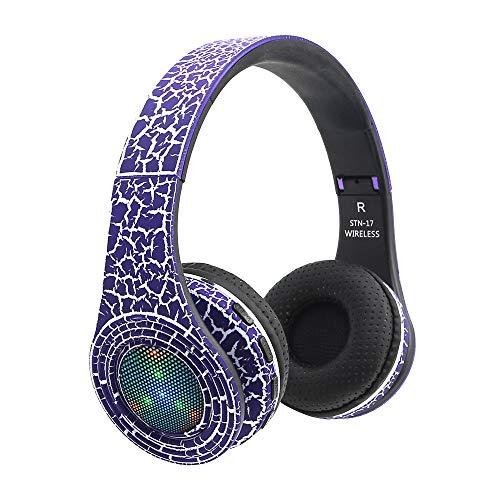 Bluetooth Kopfhörer Over Ear, Noise Canceling für Mikrofon –Kabellose Headset Wireless Faltbare Ohrhörer Über dem Ohr Verstellbarer 3,5 mm Kopfhörer BT4.1 Stereo Headset für MP3 / iPhone (Ohr über Beats Dre By)