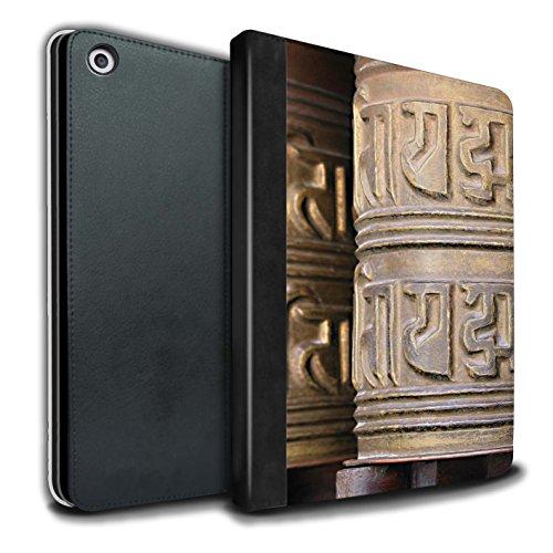 �lle/Case/Brieftasche für Apple iPad 9.7 (2017) Tablet/Gebetsmühle Muster/Innerer Frieden Kollektion ()