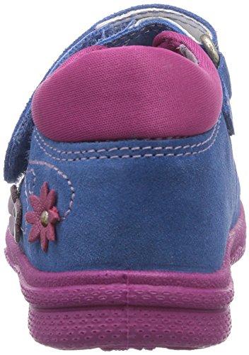 Superfit  POLLY, Chaussures premiers pas pour bébé (fille) Bleu - Blau (DENIM KOMBI 94)