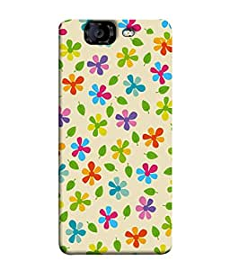 PrintVisa Designer Back Case Cover for Micromax Canvas Knight A350 :: Micromax A350 Canvas Knight (Beautiful Flowers Leafs Natural Sceneray Wall Paper Poster)