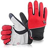 Zookki Cycling Gloves Mountain Bike Gloves Road Racing Bicycle Gloves Light Silicone Gel Pad Biking Gloves Full Finger Bicycling Gloves Riding Gloves Men/Women Work Gloves
