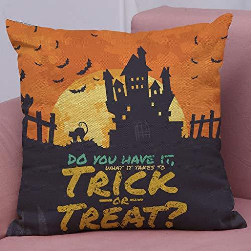 en Kissenbezug, Spirit of Halloween Thriller Throw Kissenbezüge 100% Baumwolle Leinen Reißverschluss, Kissen Couch Kissenbezüge,M,18