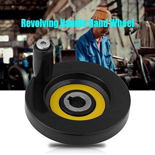 511sYgnDhjL - 1 Unids Negro Torno Fresadora Rueda de Mano de Ondulación Trasera con Manija Giratoria(12 * 80mm)