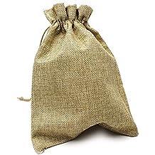 RUBY - 20 Bolsas de arpillera con cordón 23 x 17cm, Bolsitas de Tela,