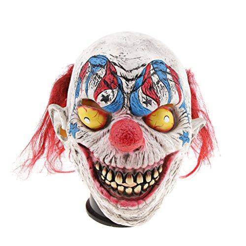 (Fenteer Horror Latexmaske Halloween Maske Zombiemaske Clown Makse Hexe Maske Cosplay Maske, Pefekt für Freunde als Halloweengeschenk - Zirkus Clown)