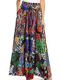 Sakkas Pantalones Anchos Flojos Ankara africanos Flojos de la Pierna de Las Mujeres Sora la Cintura