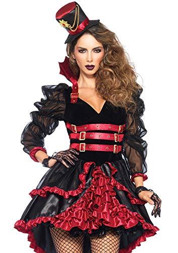 Leg Avenue Costume Vamp Victorienne pour Femme Noir/Rouge Taille M