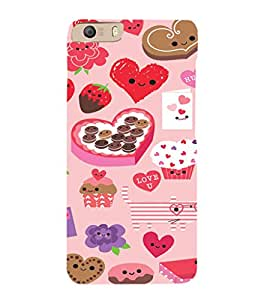 EPICCASE Love n Cake Mobile Back Case Cover For Micromax Canvas Knight 2 E471 (Designer Case)