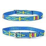 Strapazierfähiges Nylon Hunde Halsband Native Look große Hunderassen L XL XXL bunt türkis XS