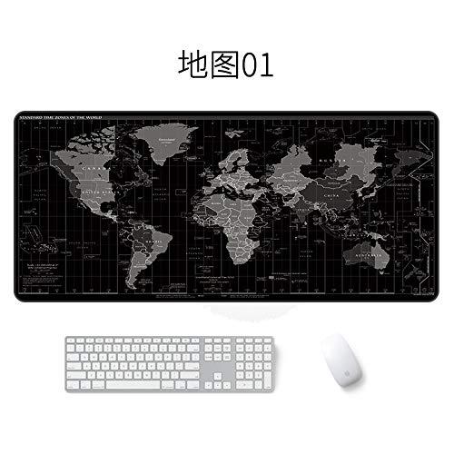 Map Mauspad Generation, um große wasserdichte Mauspad Karte 01 400 * 900 * 4mm zu senden (Karte Spieler Kostüm)