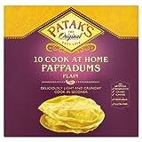 Patak's The Original 10 Cook at Home Pappadums Plain, 100g