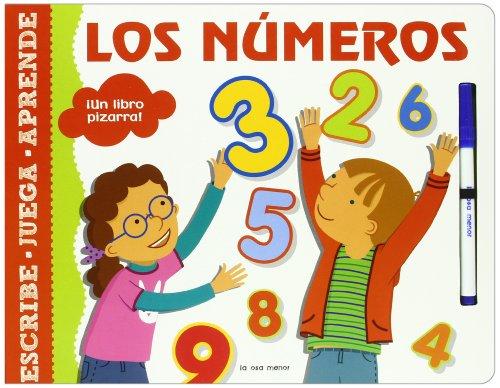 Los números: ¡Un libro pizarra! (Luna de papel) por Autores varios
