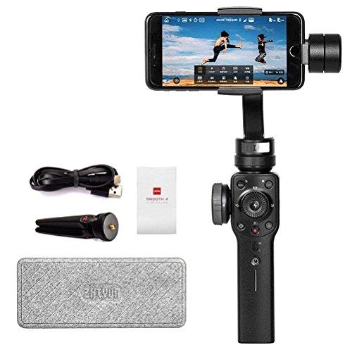 Zhiyun Smooth-4 3-Achsen-Handheld-Kardan Stabilizer für iPhone X 8 7 Plus 6 Plus Fokus Pull & Zoom-Fähigkeit, Timelapse-Experte, Objektverfolgung, Zwei-Wege-Laden